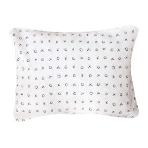 black xoxo single pillow case