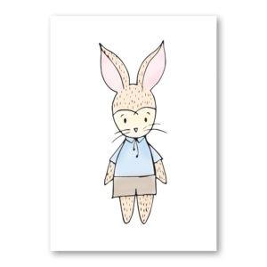boy bunny wall art