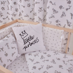 bunny duvet cover + pillow case