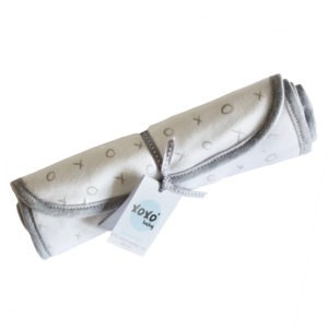 grey xoxo burp cloth