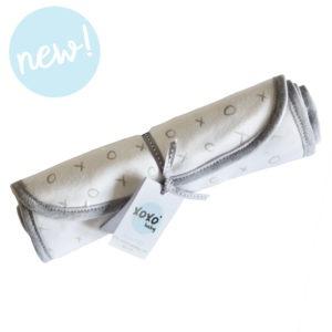 grey xoxo burp cloth