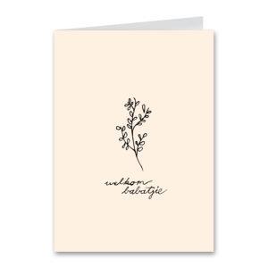 Welkom Babatjie Pink Card