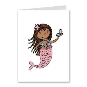 Mermaid Pink Card