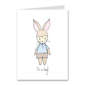 Blue Bunny Card