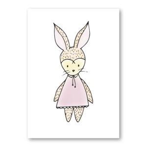 girl bunny wall art