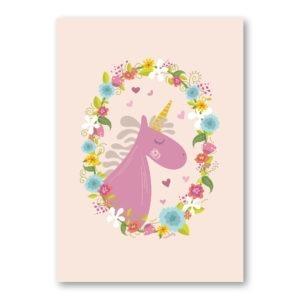 girl unicorn wall art