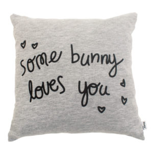 dove grey some bunny loves you scatter cushion