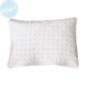 grey xoxo single pillow case