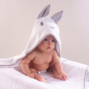 bunny hooded towel baby