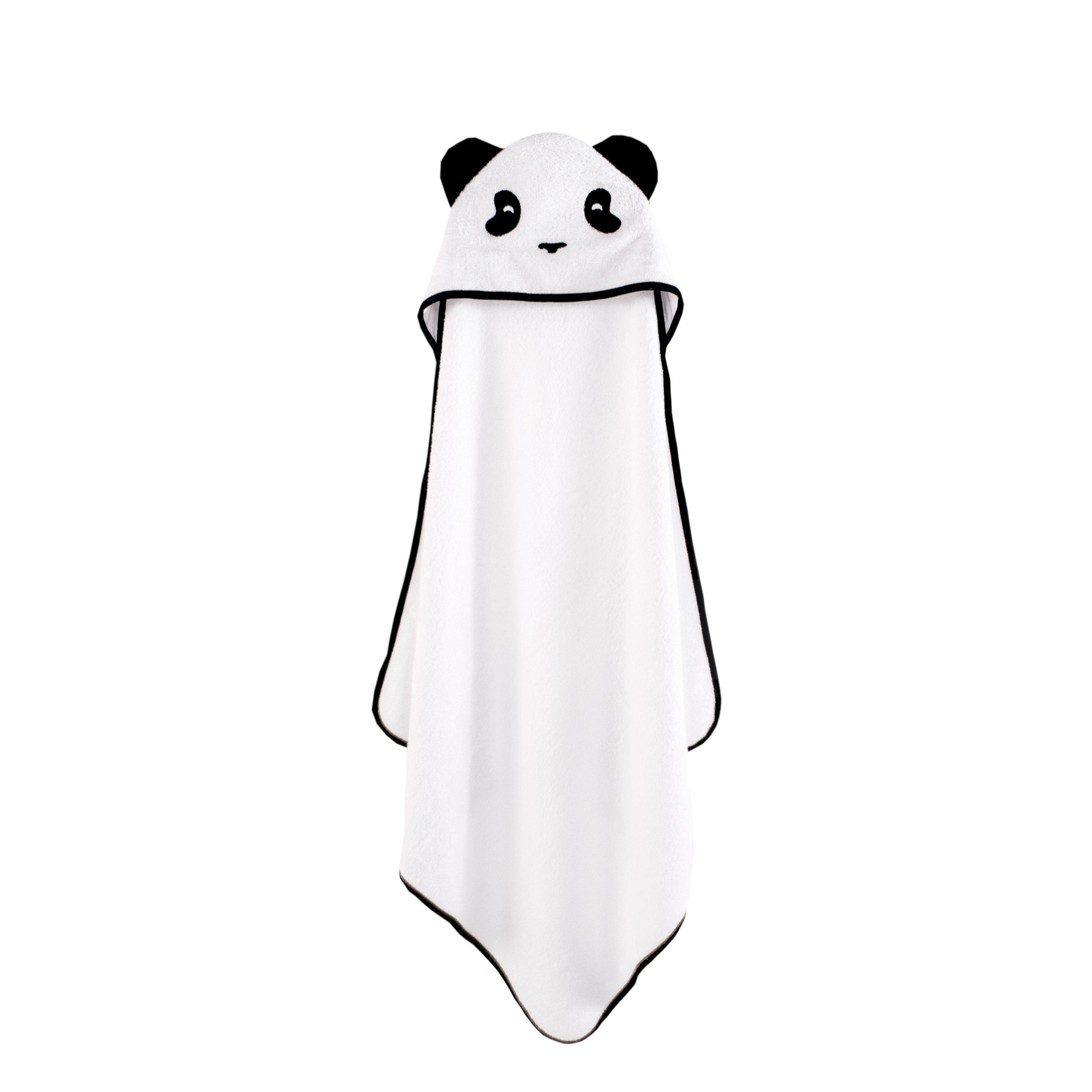 panda hooded towel baby