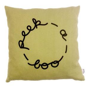 sage green peek-a-boo scatter cushion