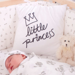 white little princess scatter cushion