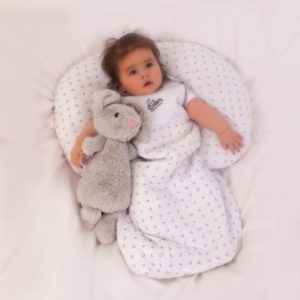 light tiny tot grey xoxo sleeping bag