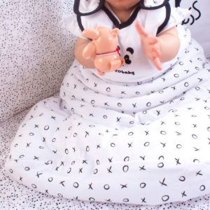 padded tiny tot black xoxo sleeping bag