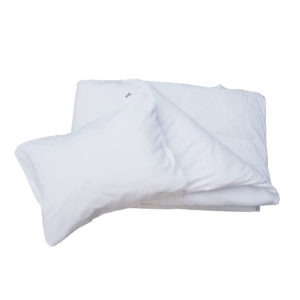 white duvet cover + pillowcase