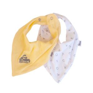yellow + bunny bandana bibs