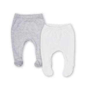 grey + white leggings pair