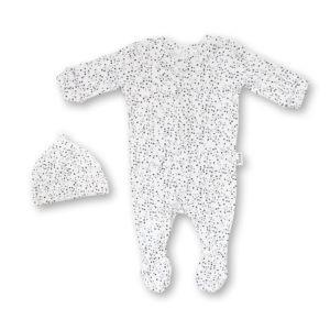 speckles babygro + beanie set
