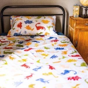 dino single bed duvet set
