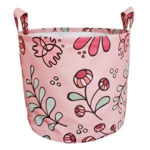 wild flower canvas toy bin
