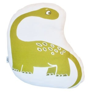 green dino scatter cushion