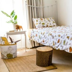 safari animals single bed duvet set