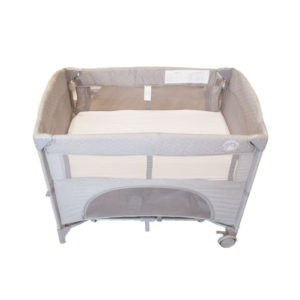 white fitted sheet camp cot
