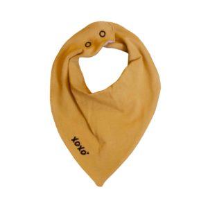 mustard bandana bib