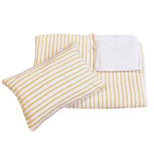 mustard stripe duvet set