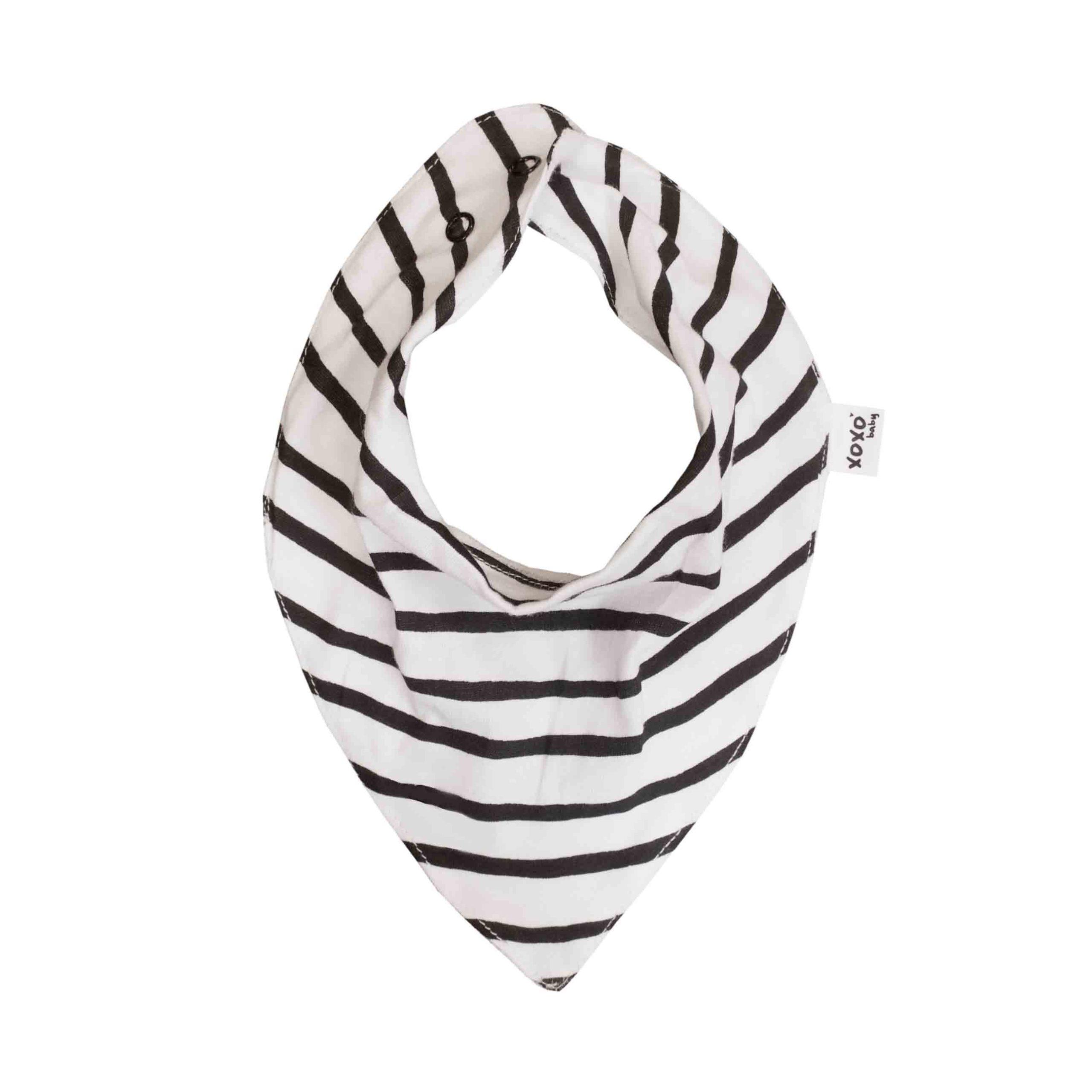 black stripe bandana bib