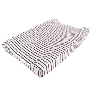 black stripe changing mat cover