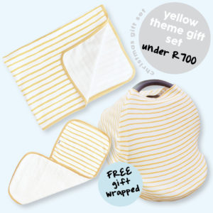 yellow stripe unisex gift set