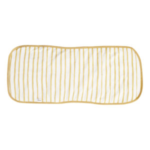 mustard stripe burp cloth