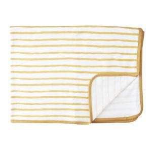 mustard stripe receiving blanket