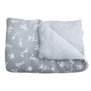 grey bunny duvet set
