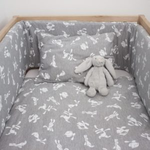 grey bunny pillowcase