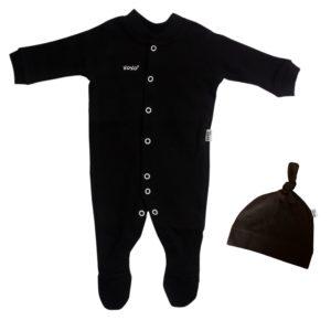 black babygro set