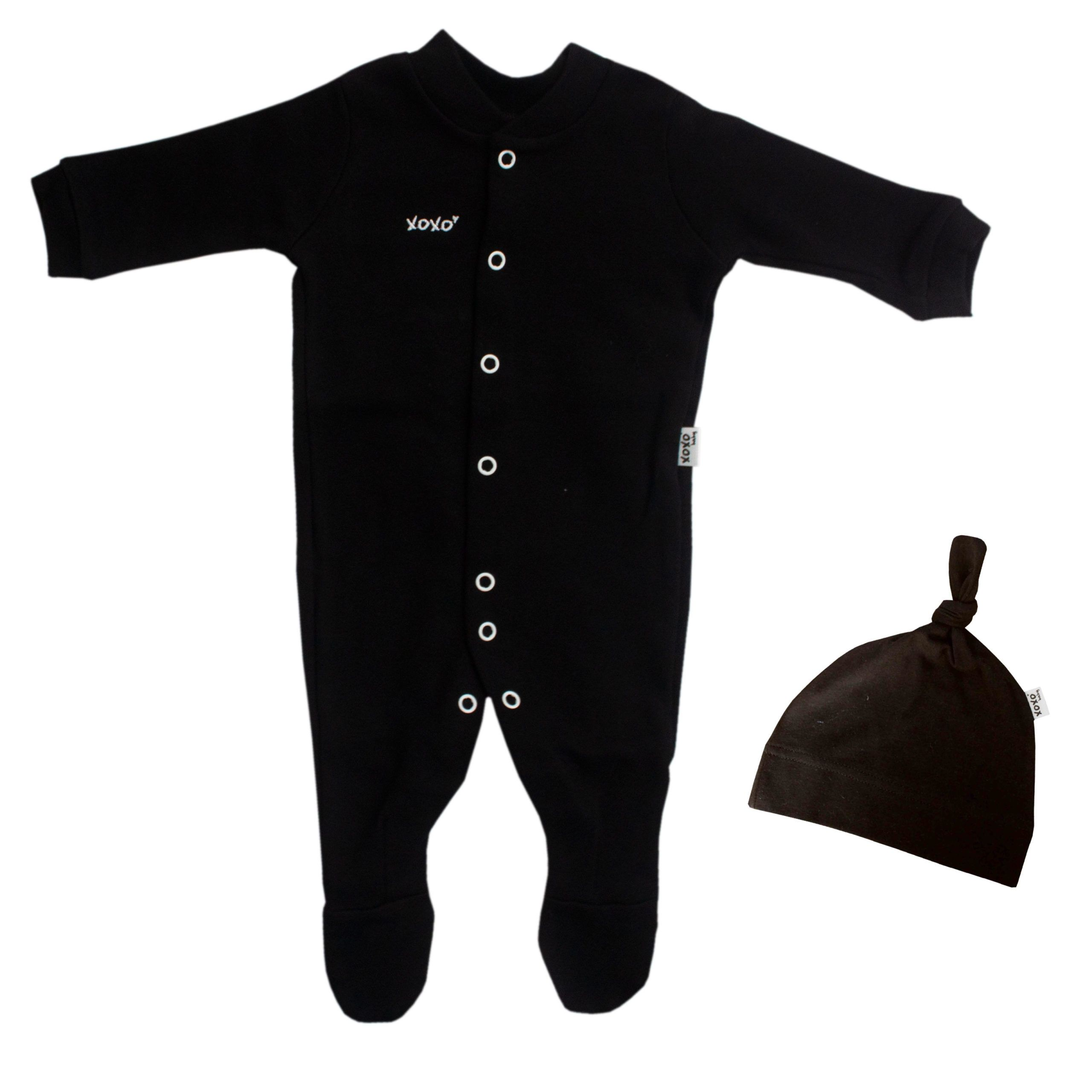 black babygro set - 0-3 months
